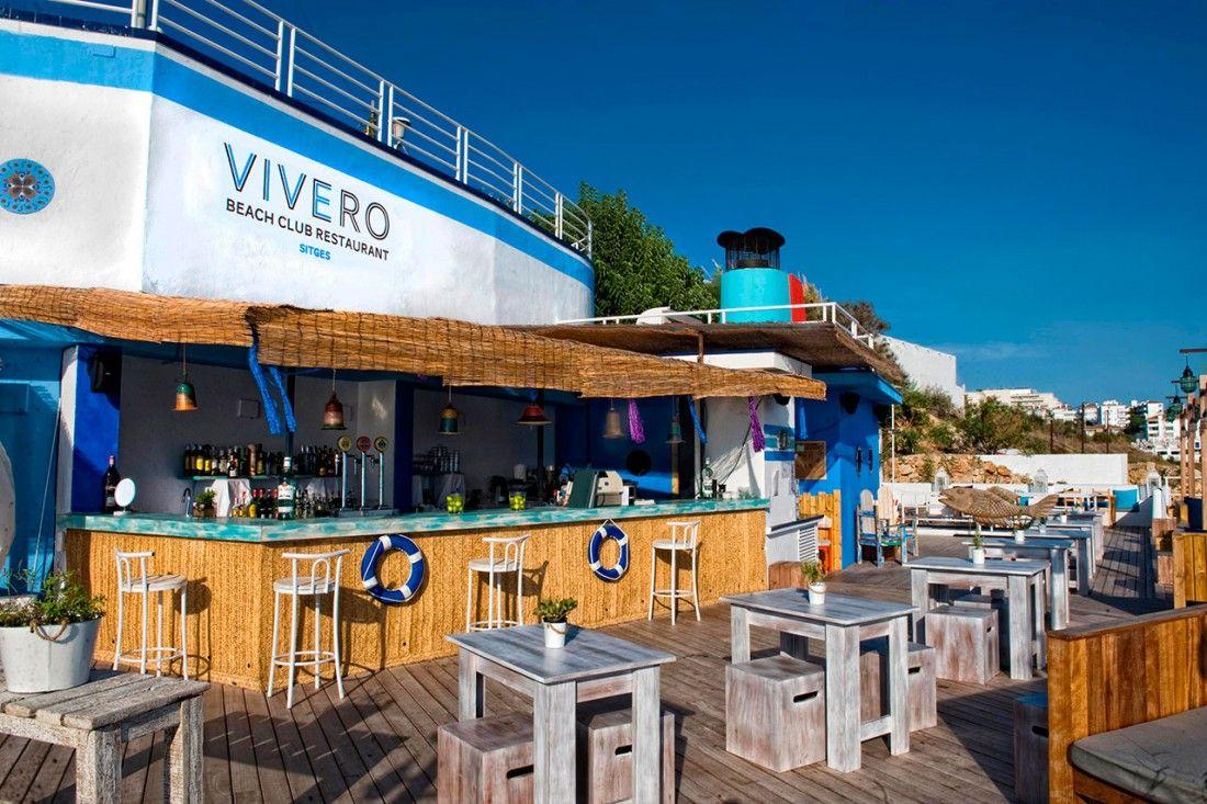 Proyecto y construcci n de beach club el vivero de sitges for Viveros barcelona